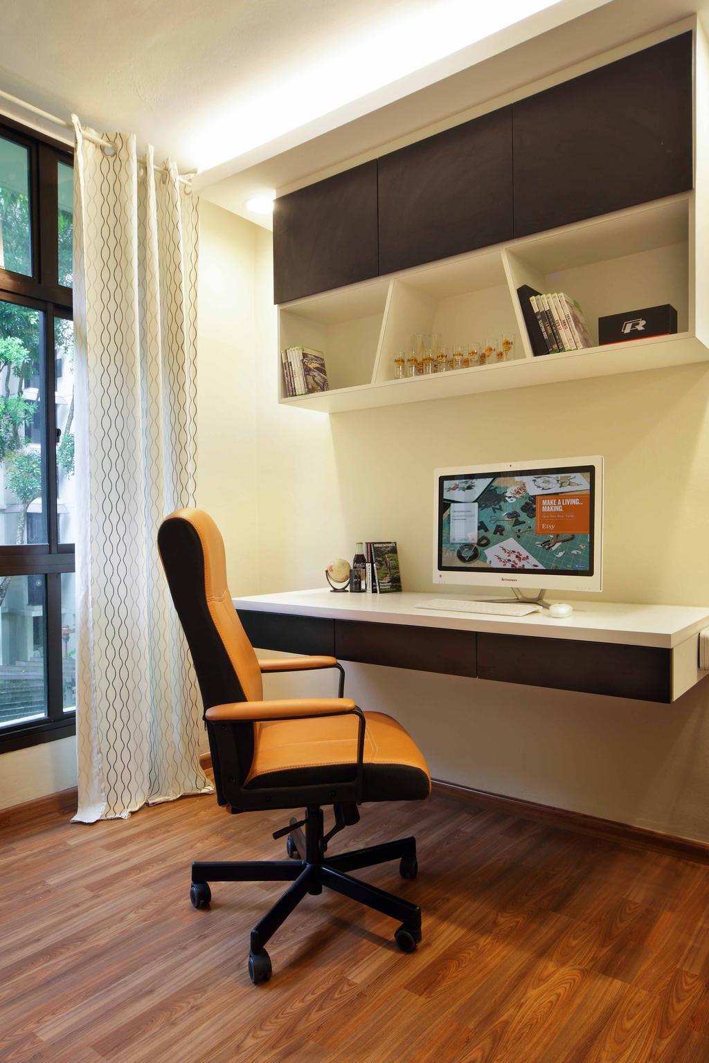 Modern, HDB, Study, Segar Road (Block 465), Interior Designer, Space Concepts Design, Chair, Furniture, Molding, Clothing, Footwear, Shoe, Shelf, Couch, Book