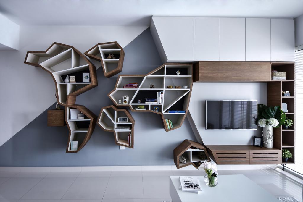 Modern, Condo, Living Room, The Mezzo, Interior Designer, DISTINCTidENTITY, Scandinavian