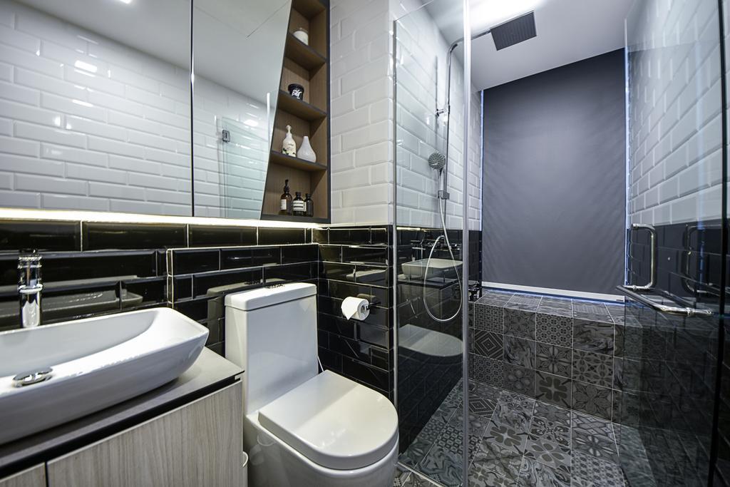 Modern, Condo, Bathroom, The Mezzo, Interior Designer, DISTINCTidENTITY, Scandinavian