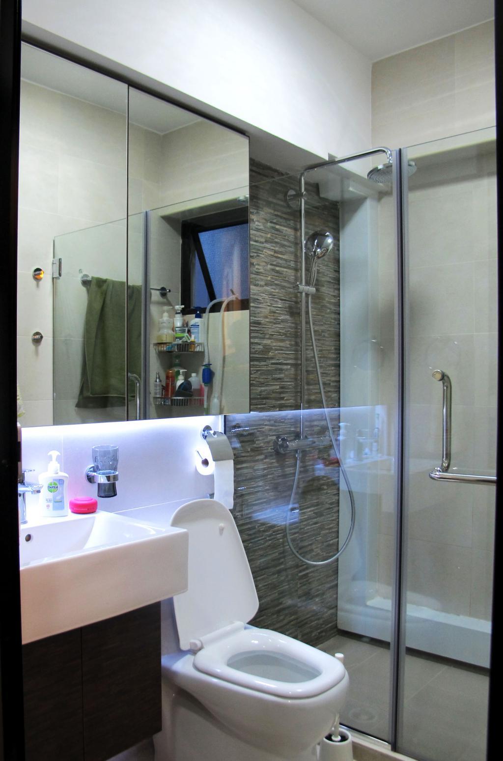 Modern, HDB, Bathroom, Clementi Avenue 3, Interior Designer, Colourbox Interior, Indoors, Interior Design, Room
