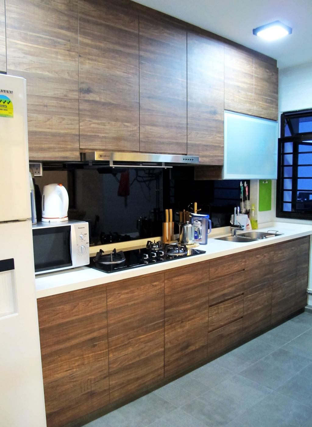 Modern, HDB, Kitchen, Clementi Avenue 3, Interior Designer, Colourbox Interior