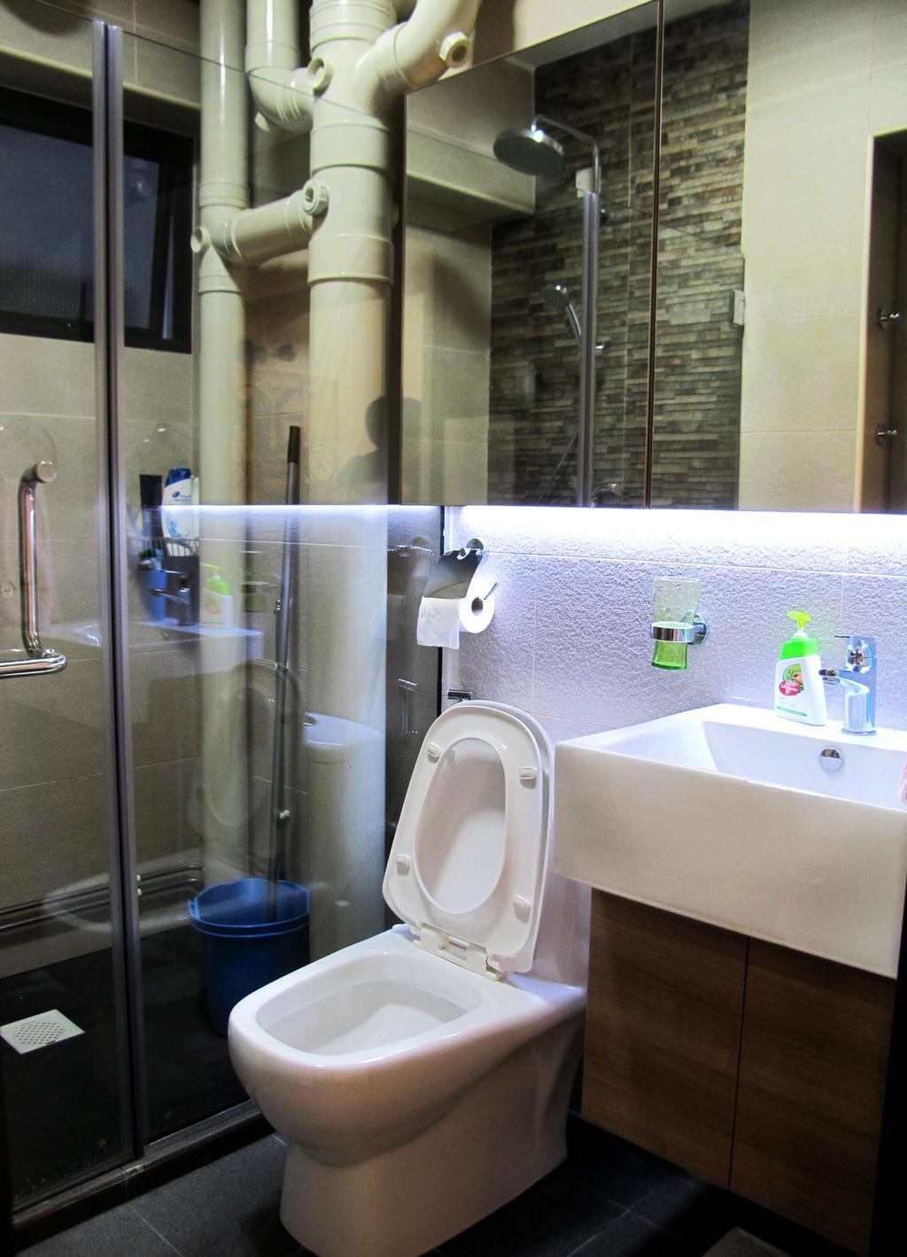 Modern, HDB, Bathroom, Clementi Avenue 3, Interior Designer, Colourbox Interior, Toilet