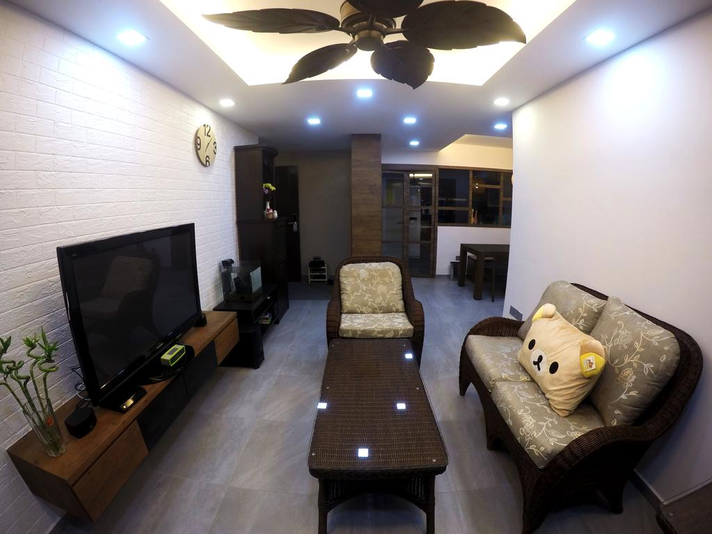 Modern, HDB, Living Room, Clementi Avenue 3, Interior Designer, Colourbox Interior, Chair, Furniture, Flora, Jar, Plant, Potted Plant, Pottery, Vase, Couch, Indoors, Room, Light, Traffic Light