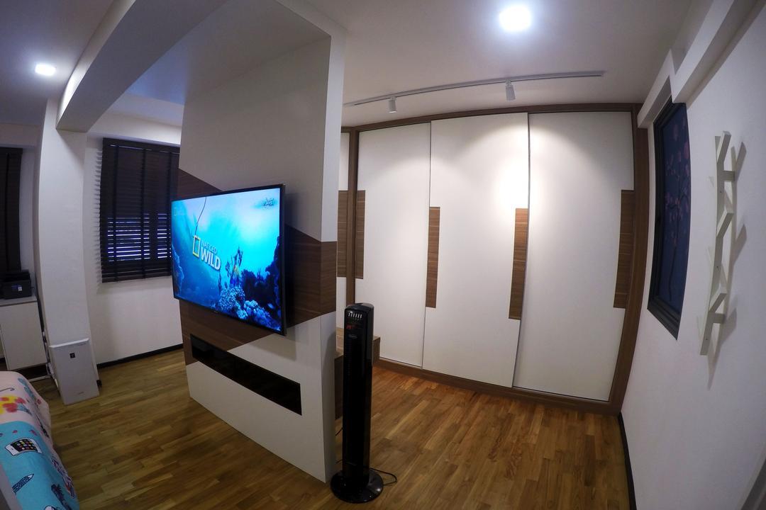 Punggol Waterway Terraces, Colourbox Interior, Scandinavian, Bedroom, HDB, Heater, Space Heater