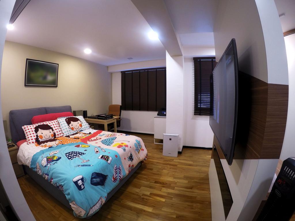 Scandinavian, HDB, Bedroom, Punggol Waterway Terraces, Interior Designer, Colourbox Interior, Bed, Furniture, Indoors, Room