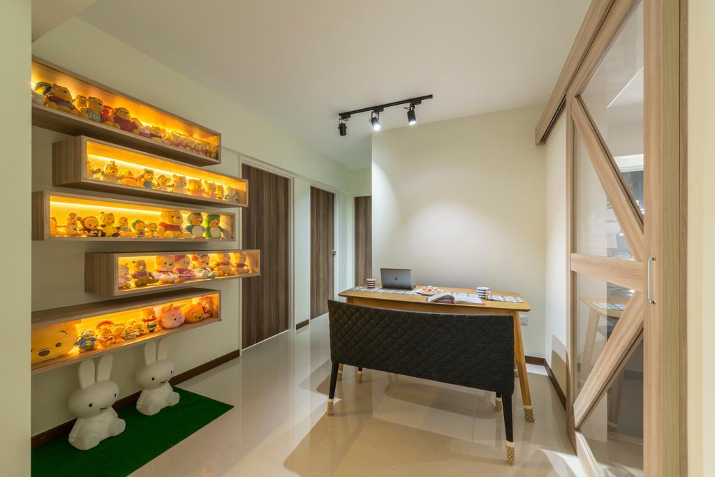 Modern, HDB, Dining Room, Upper Serangoon Road, Interior Designer, Charlotte's Carpentry, Scandinavian, Indoors, Interior Design, Banister, Handrail