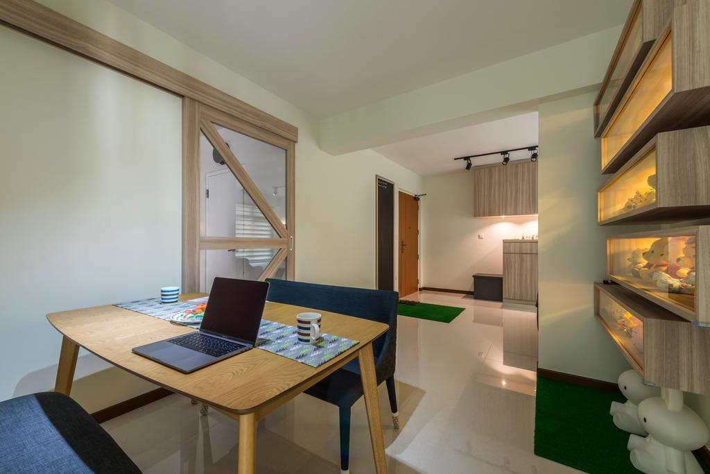 Modern, HDB, Dining Room, Upper Serangoon Road, Interior Designer, Charlotte's Carpentry, Scandinavian, Chair, Furniture, Dining Table, Table, Indoors, Interior Design