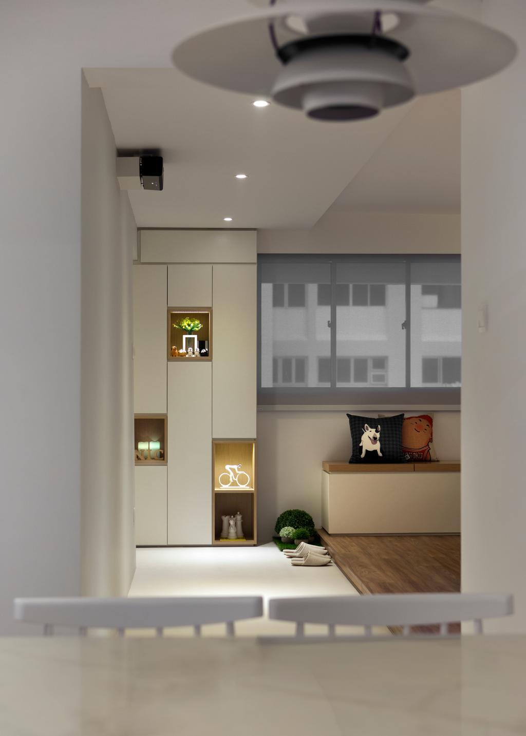Minimalistic, HDB, Living Room, Marine Terrace, Interior Designer, Prozfile Design, Scandinavian