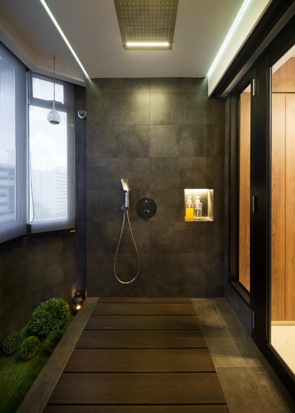 Minimalistic, HDB, Bathroom, Marine Terrace, Interior Designer, Prozfile Design, Scandinavian, Indoors, Interior Design, Room