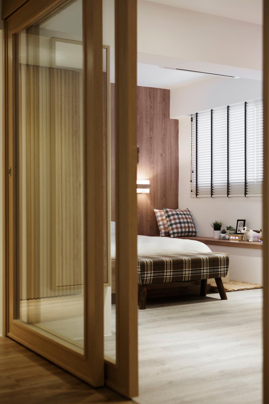 Minimalistic, HDB, Bedroom, Marine Terrace, Interior Designer, Prozfile Design, Scandinavian