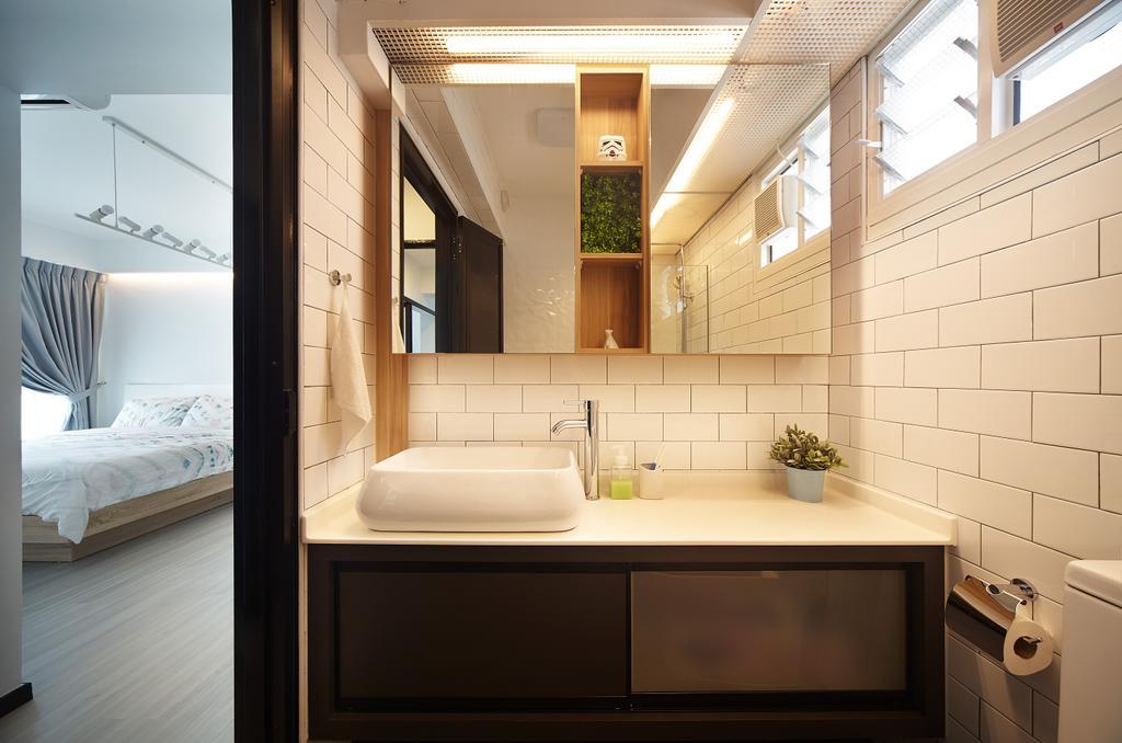 Modern, HDB, Bathroom, Edgefield Plains (Block 670B), Interior Designer, D5 Studio Image, Minimalistic, Indoors, Interior Design, Room