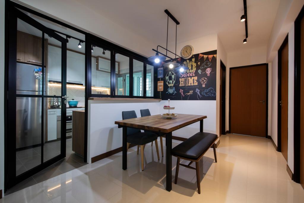 Modern, HDB, Dining Room, Tenteram Peak (Block 116A), Interior Designer, Aart Boxx Interior, Scandinavian, Dining Table, Furniture, Table, Indoors, Interior Design, Room, Chair