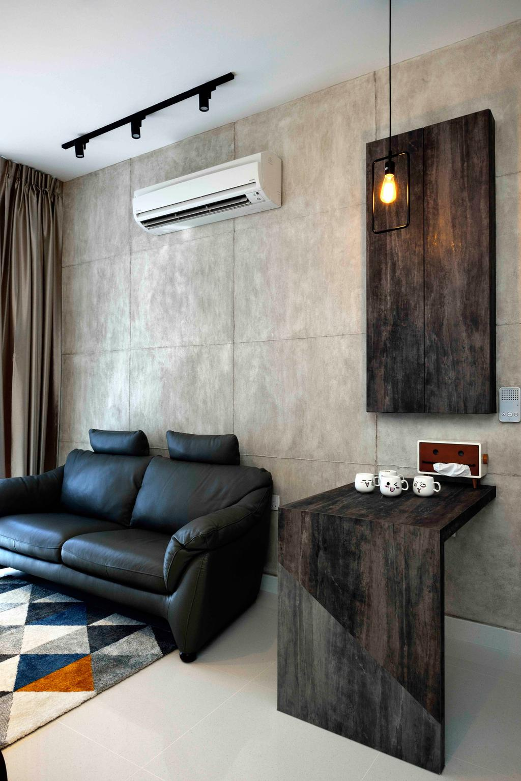 Scandinavian, Condo, Living Room, Urban Vista, Interior Designer, Aart Boxx Interior, Couch, Furniture