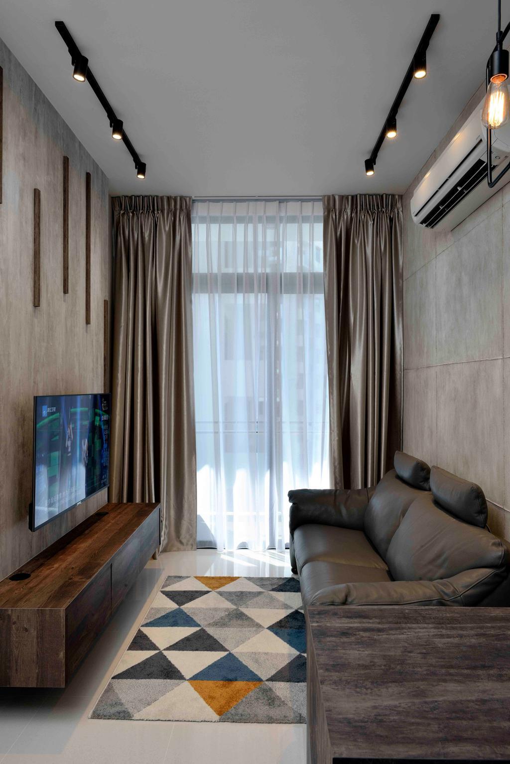 Scandinavian, Condo, Living Room, Urban Vista, Interior Designer, Aart Boxx Interior, Couch, Furniture, Curtain, Home Decor