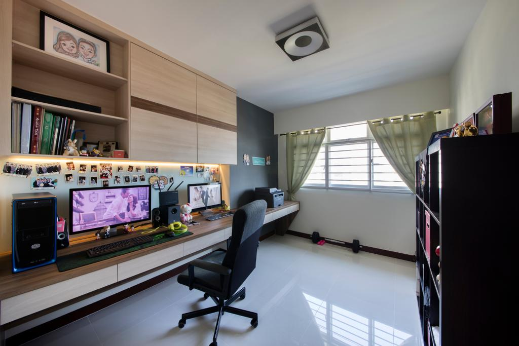 Modern, HDB, Study, Oleander Breeze, Interior Designer, Aart Boxx Interior, Chair, Furniture