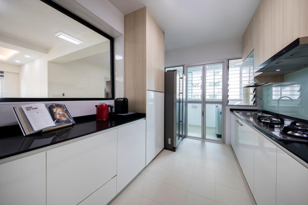 Modern, HDB, Kitchen, Oleander Breeze, Interior Designer, Aart Boxx Interior, Indoors, Interior Design, Room