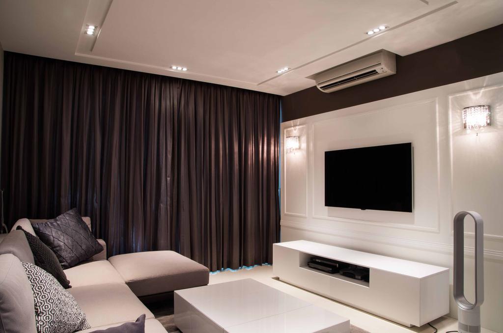 Contemporary, Condo, Living Room, Caspian Condo, Interior Designer, Space Concepts Design, Electronics, Entertainment Center, Home Theater, Chair, Furniture