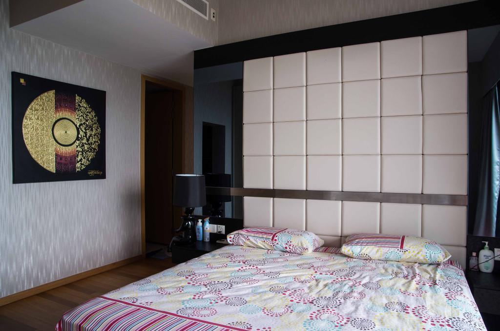 Contemporary, Condo, Bedroom, Marina Bay Residence, Interior Designer, Space Concepts Design, Indoors, Room, Bed, Furniture