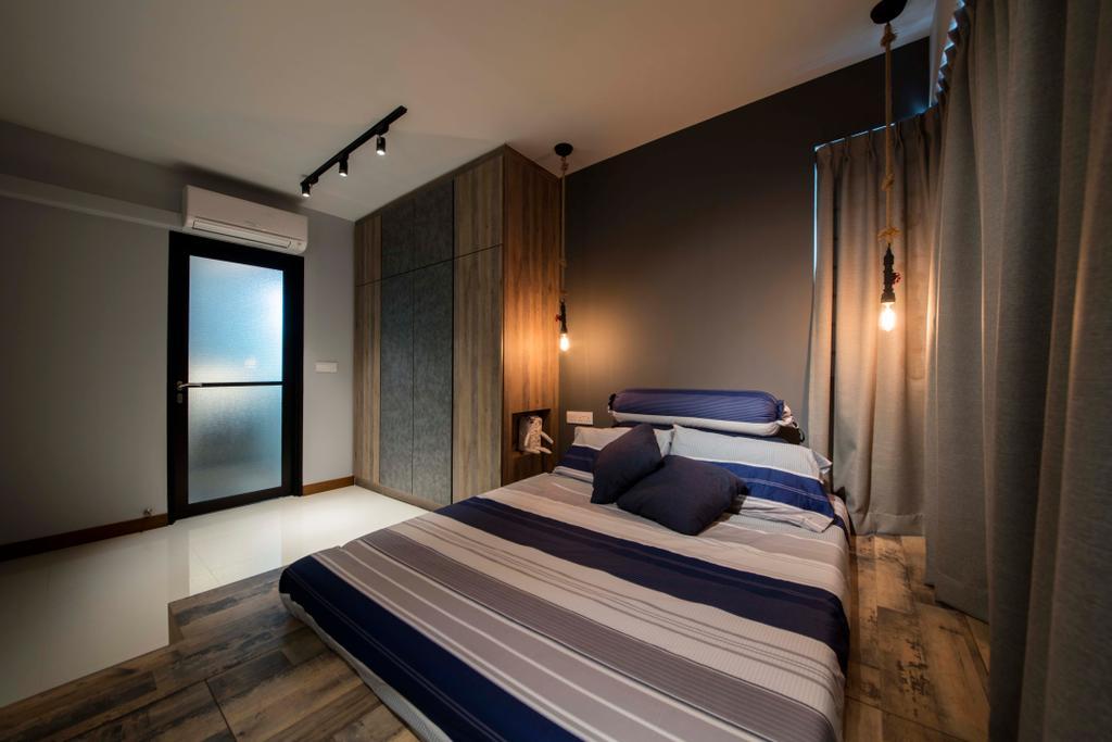 Modern, HDB, Bedroom, Tenteram Peak (Block 116B), Interior Designer, Aart Boxx Interior, Scandinavian, Bed, Furniture, Indoors, Interior Design, Room