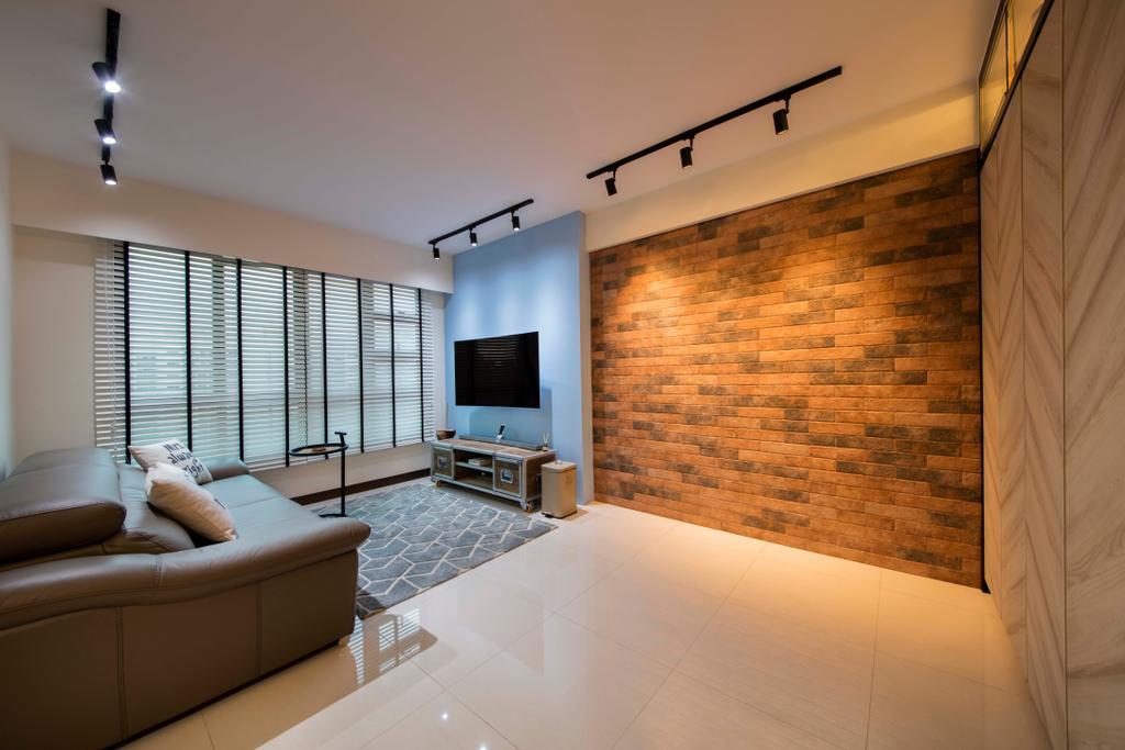 Scandinavian, HDB, Living Room, Edgedale Plains (Block 122A), Interior Designer, Aart Boxx Interior, Industrial, Couch, Furniture, Indoors, Interior Design
