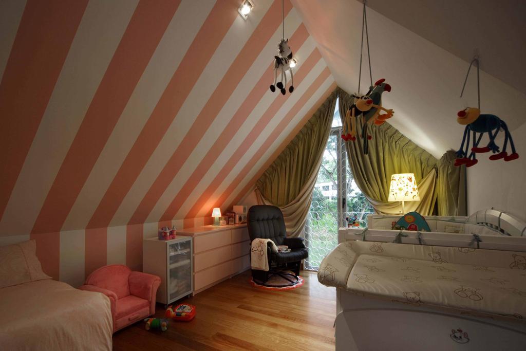 Contemporary, Landed, Bedroom, Thomson Road, Interior Designer, Space Concepts Design, HDB, Attic, Building, Housing, Indoors, Loft, Interior Design, Room