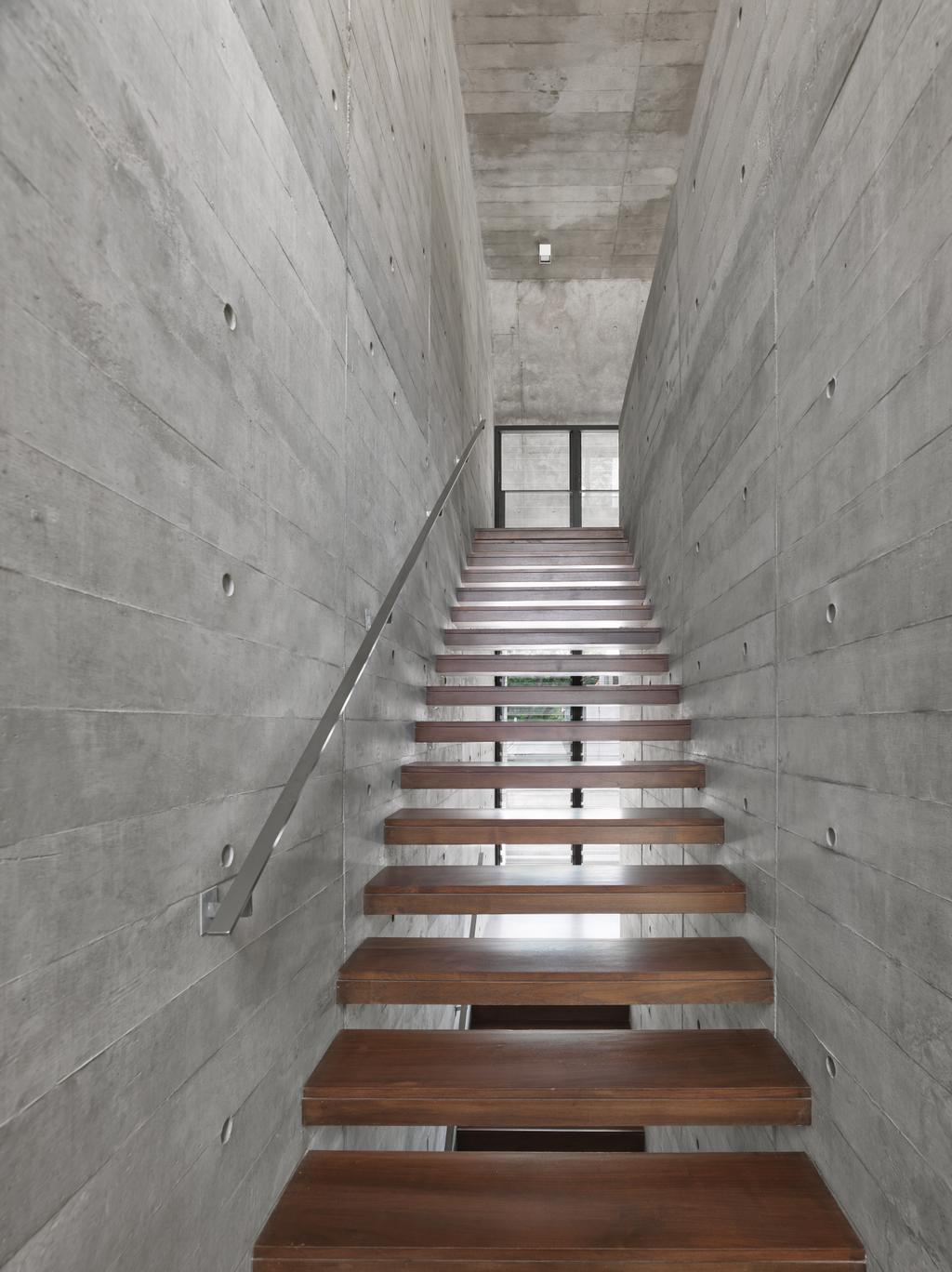 Contemporary, Landed, Goldhill Drive, Architect, Visual Text Architects, Banister, Handrail, Staircase