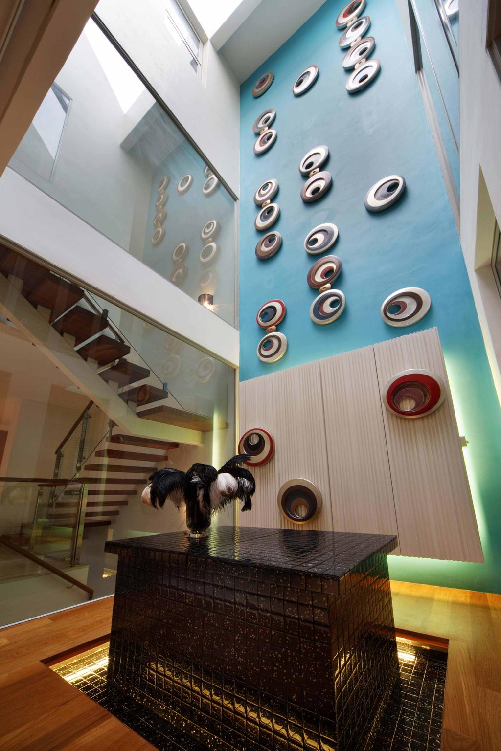 Contemporary, Landed, Living Room, Thomson Road, Interior Designer, Space Concepts Design, Banister, Handrail, Staircase