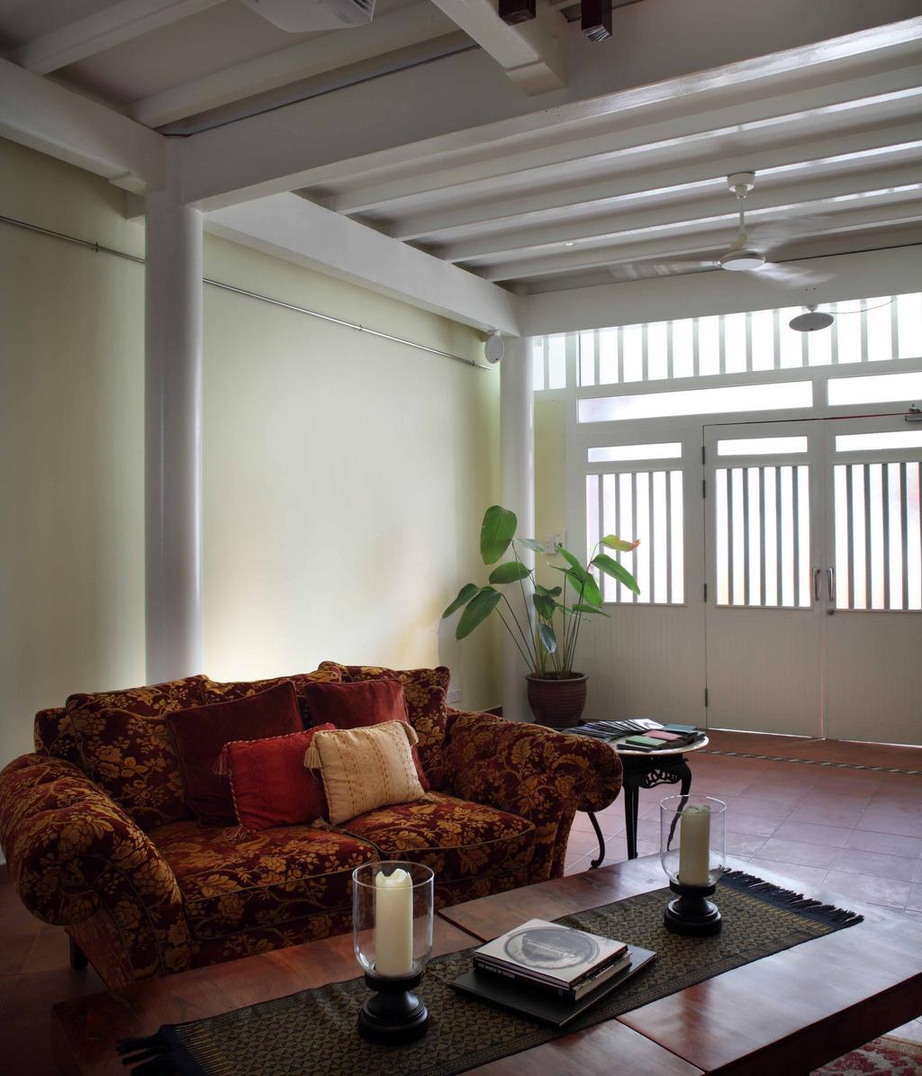 Contemporary, Landed, Living Room, Everton Shophouse, Interior Designer, Space Concepts Design, Flora, Jar, Plant, Potted Plant, Pottery, Vase, Couch, Furniture