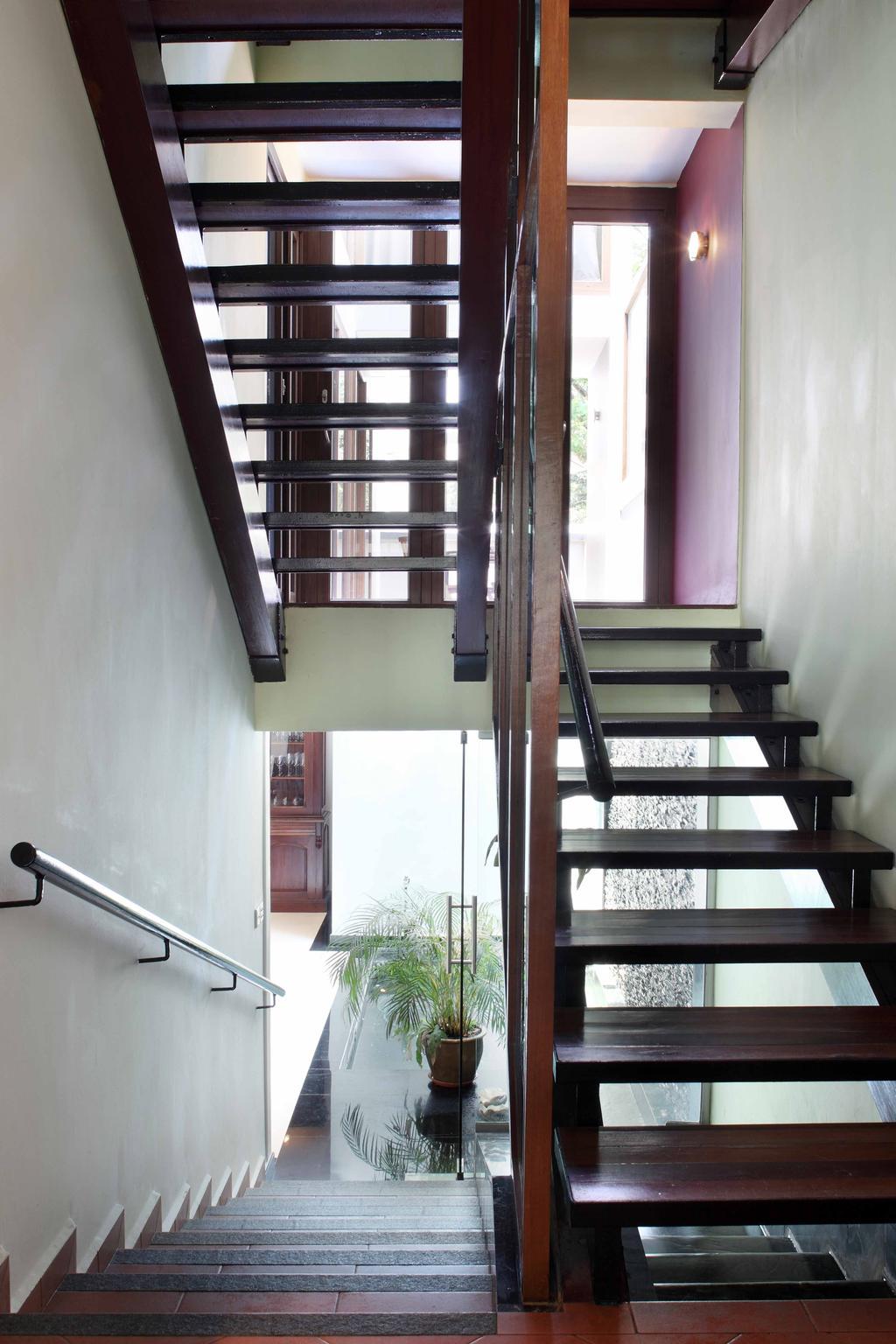 Contemporary, Landed, Everton Shophouse, Interior Designer, Space Concepts Design, Staircase, Banister, Handrail