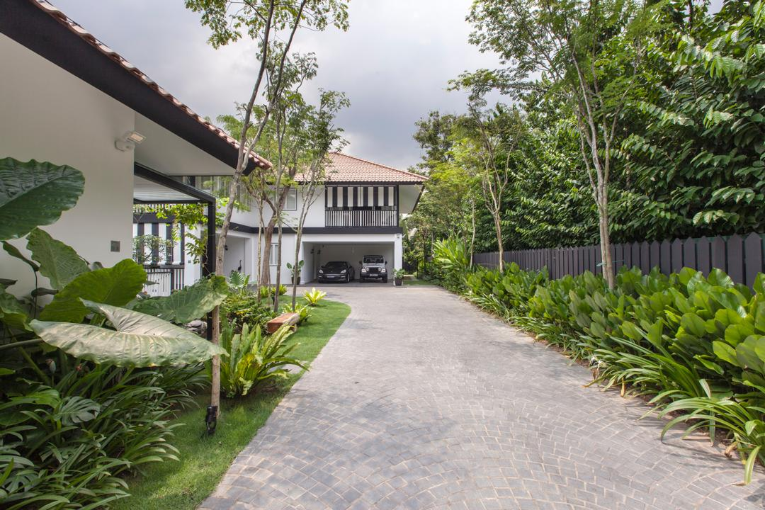 Maryland Drive, Aamer Architects, Traditional, Landed, Building, Cottage, House, Housing, Backyard, Outdoors, Yard