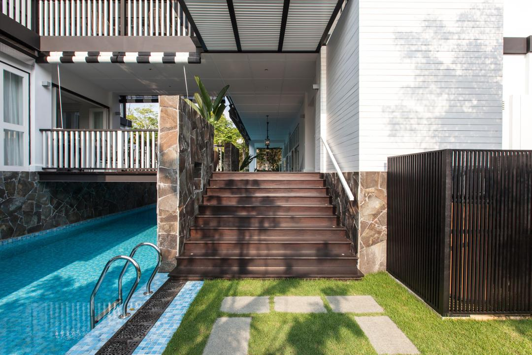 Maryland Drive, Aamer Architects, Traditional, Landed, Pool, Swimming Pool, Porch, Fence