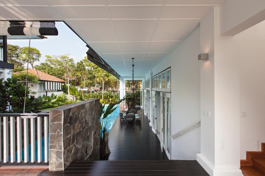 Traditional, Landed, Maryland Drive, Architect, Aamer Architects, Porch, Balcony, Flora, Jar, Plant, Potted Plant, Pottery, Vase