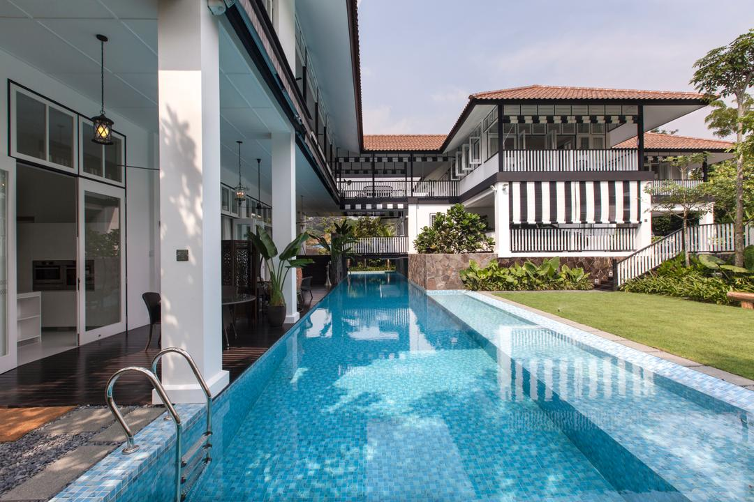 Maryland Drive, Aamer Architects, Traditional, Landed, Building, Hotel, Pool, Resort, Swimming Pool, Water, House, Housing, Villa, Jacuzzi, Tub