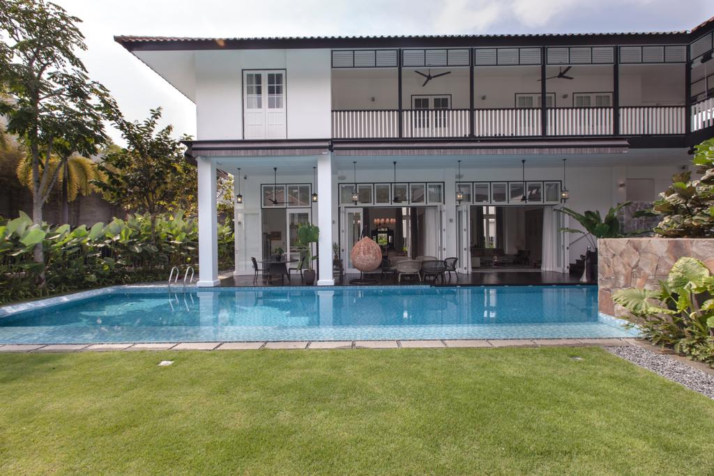 Traditional, Landed, Maryland Drive, Architect, Aamer Architects, Building, House, Housing, Villa, Pool, Water