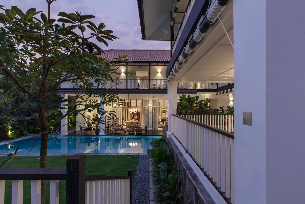 Traditional, Landed, Maryland Drive, Architect, Aamer Architects, Pool, Water, Building, House, Housing, Villa, Flora, Jar, Plant, Potted Plant, Pottery, Vase, Balcony
