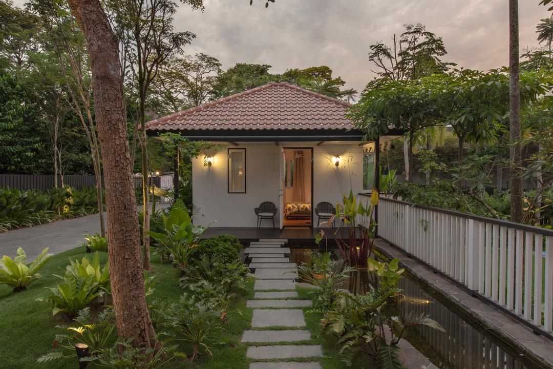 Maryland Drive, Aamer Architects, Traditional, Landed, Building, Cottage, House, Housing, Backyard, Outdoors, Yard, Gazebo, Villa