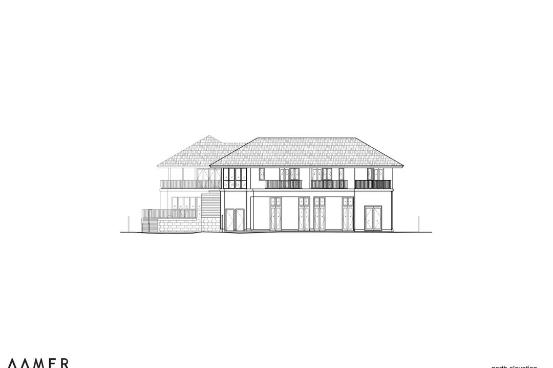 Maryland Drive, Aamer Architects, Traditional, Landed, Gazebo, Diagram, Plan