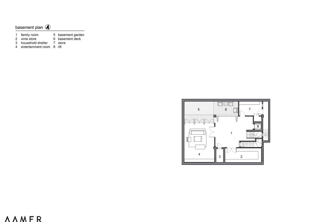Maryland Drive, Aamer Architects, Traditional, Landed, Diagram, Floor Plan, Plan
