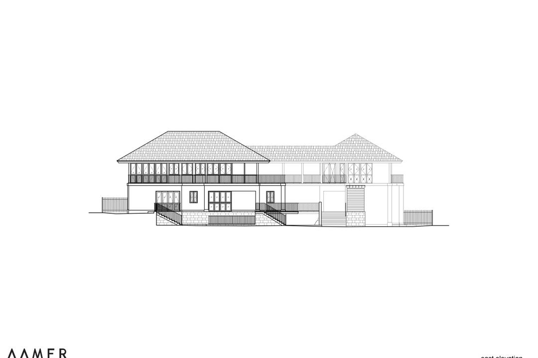 Maryland Drive, Aamer Architects, Traditional, Landed, Diagram, Plan
