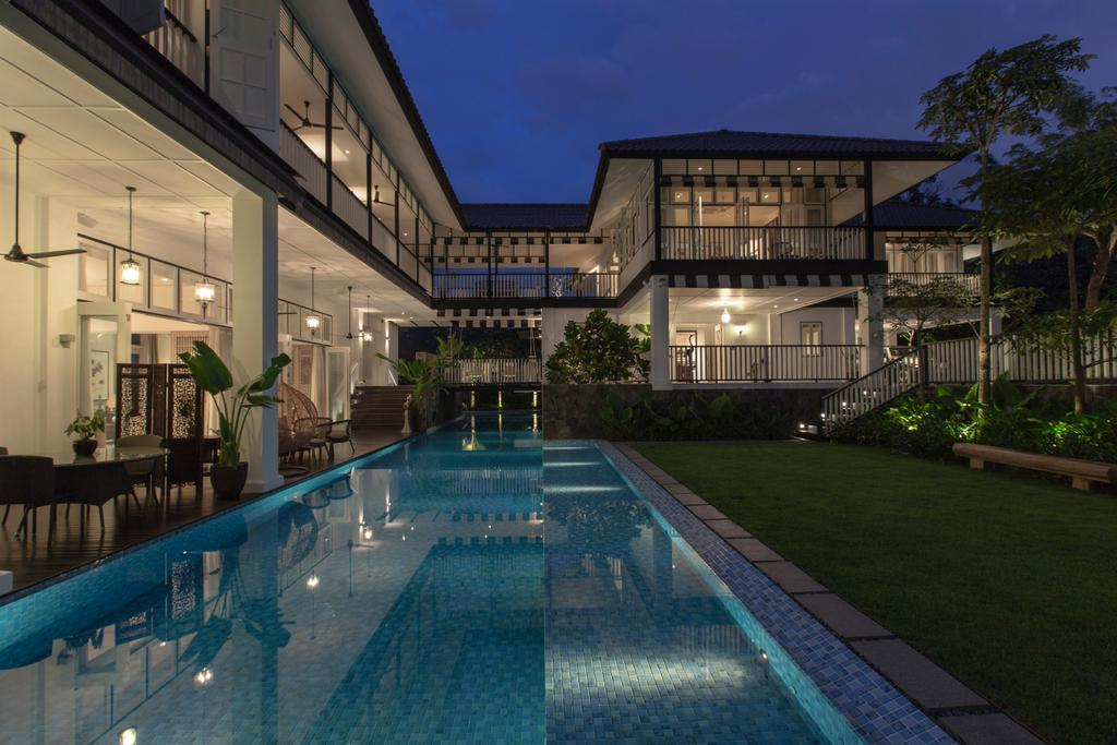 Traditional, Landed, Maryland Drive, Architect, Aamer Architects, Building, House, Housing, Villa, Flora, Jar, Plant, Potted Plant, Pottery, Vase, Pool, Water, Dining Room, Indoors, Interior Design, Room