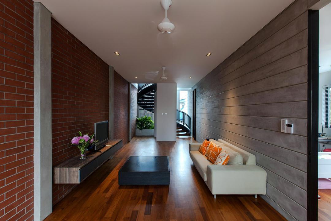 Jalan Remis, Aamer Architects, Contemporary, Living Room, Landed, Indoors, Interior Design, Flooring, Flora, Food, Plant, Produce, Pumpkin, Squash, Vegetable