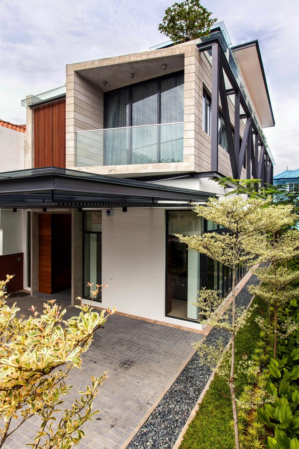 Contemporary, Landed, Jalan Remis, Architect, Aamer Architects, Porch