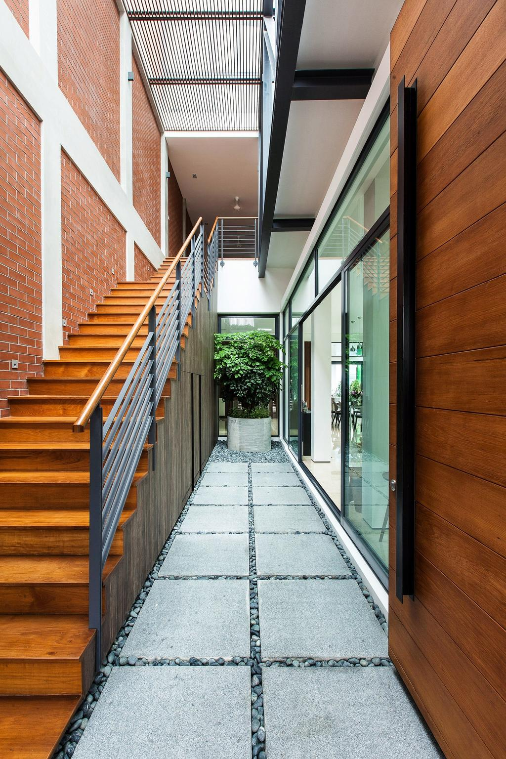 Contemporary, Landed, Jalan Remis, Architect, Aamer Architects, Path, Walkway