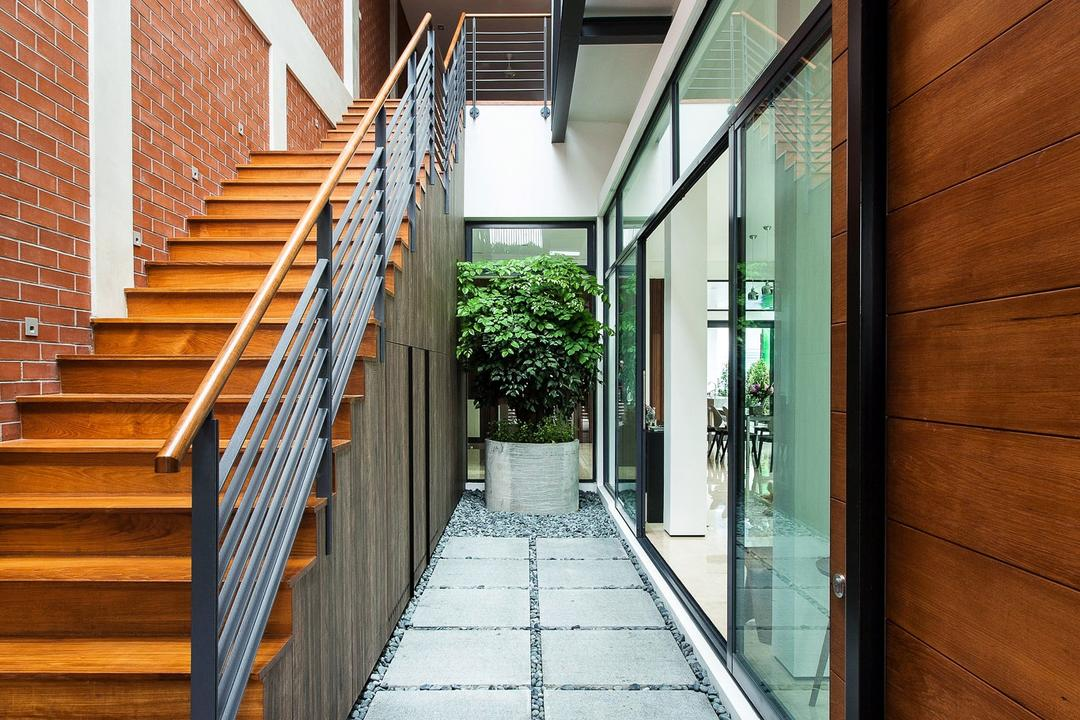 Jalan Remis, Aamer Architects, Contemporary, Landed, Path, Walkway