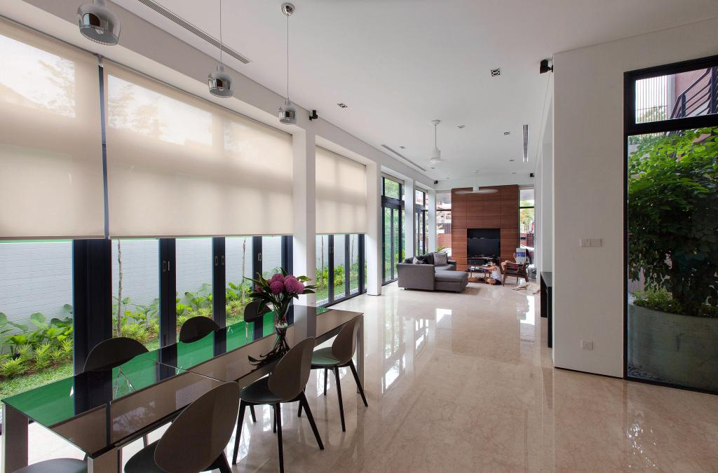 Contemporary, Landed, Jalan Remis, Architect, Aamer Architects, Flora, Jar, Plant, Potted Plant, Pottery, Vase, Dining Table, Furniture, Table, Dining Room, Indoors, Interior Design, Room