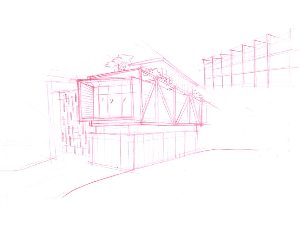 Contemporary, Landed, Jalan Remis, Architect, Aamer Architects, Elevation Drawing, Art, Drawing, Sketch