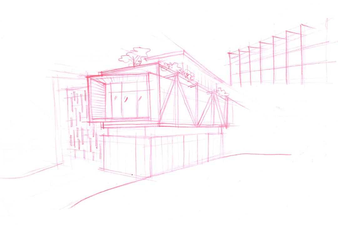 Jalan Remis, Aamer Architects, Contemporary, Landed, Elevation Drawing, Art, Drawing, Sketch
