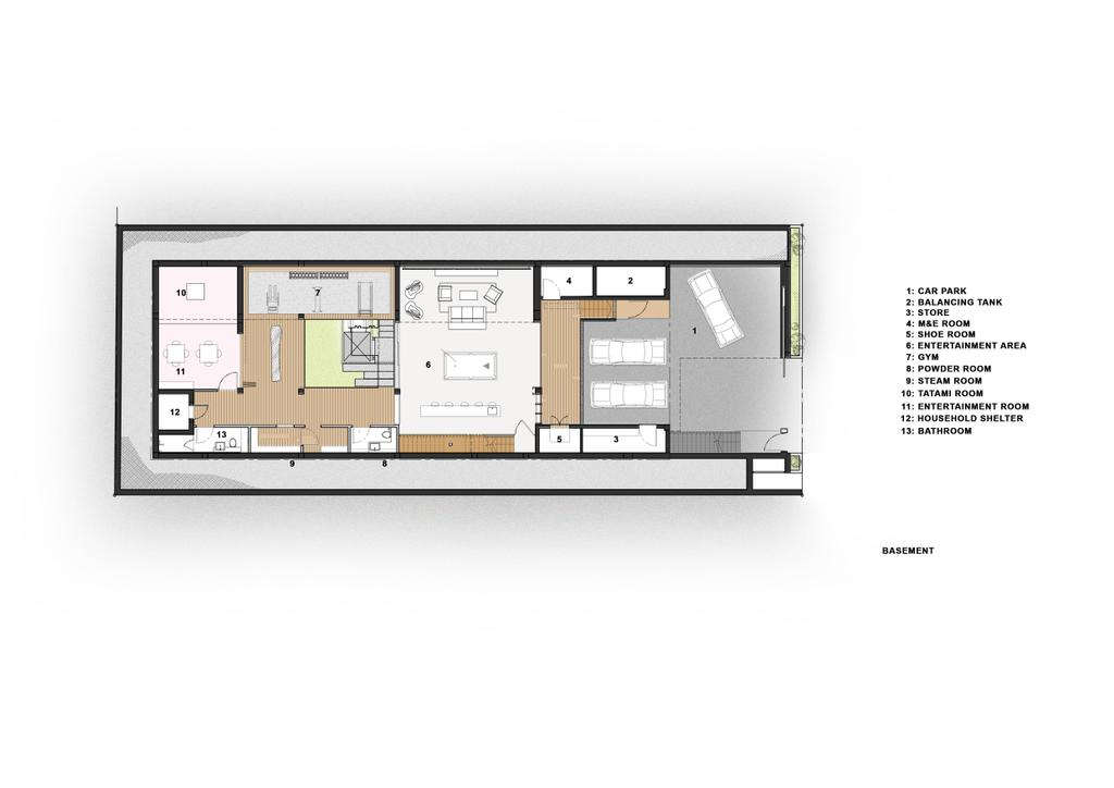 Transitional, Landed, Branksome Road, Architect, Aamer Architects, Diagram, Floor Plan, Plan
