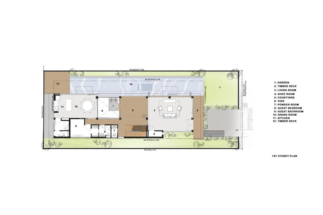 Branksome Road, Aamer Architects, Transitional, Landed, Diagram, Floor Plan, Plan