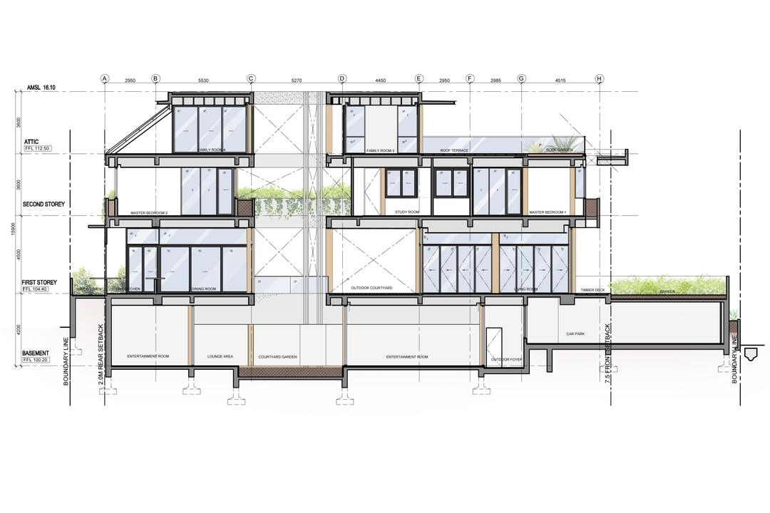 Branksome Road, Aamer Architects, Transitional, Landed, Diagram, Plan